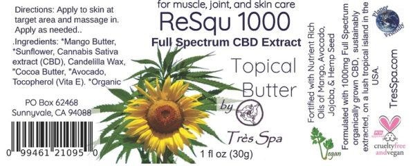 ReSqu 1000 Butter Stick by Tres Spa