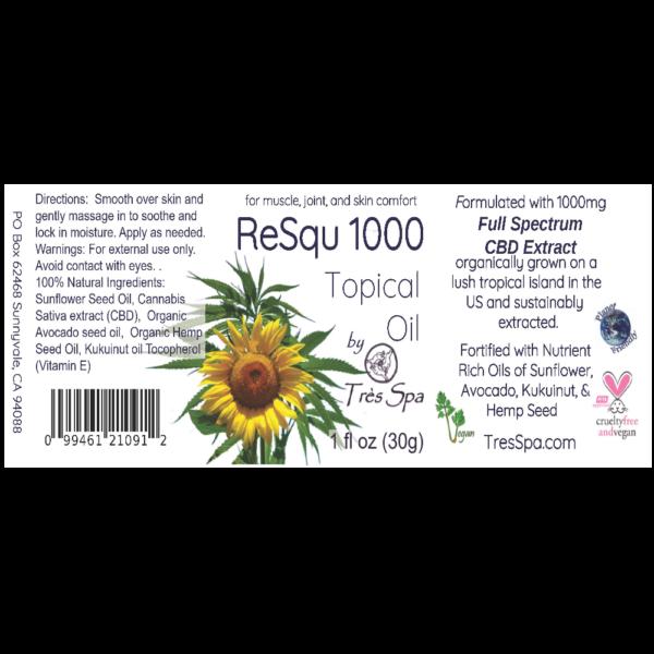 ReSqu Oil by Tres Spa