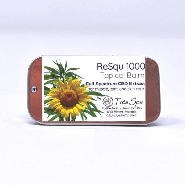 ReSqu 1000 CBD Balm by Tres Spa Trial Size